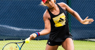Naomi Osaka in action